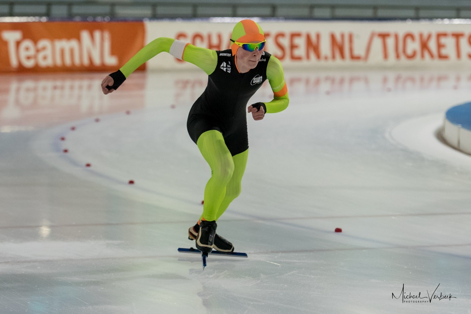 Lasse Hiddink begint het schaatsseizoen goed